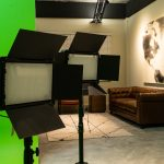 green screen studio set