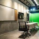 discussion area in shooting studio